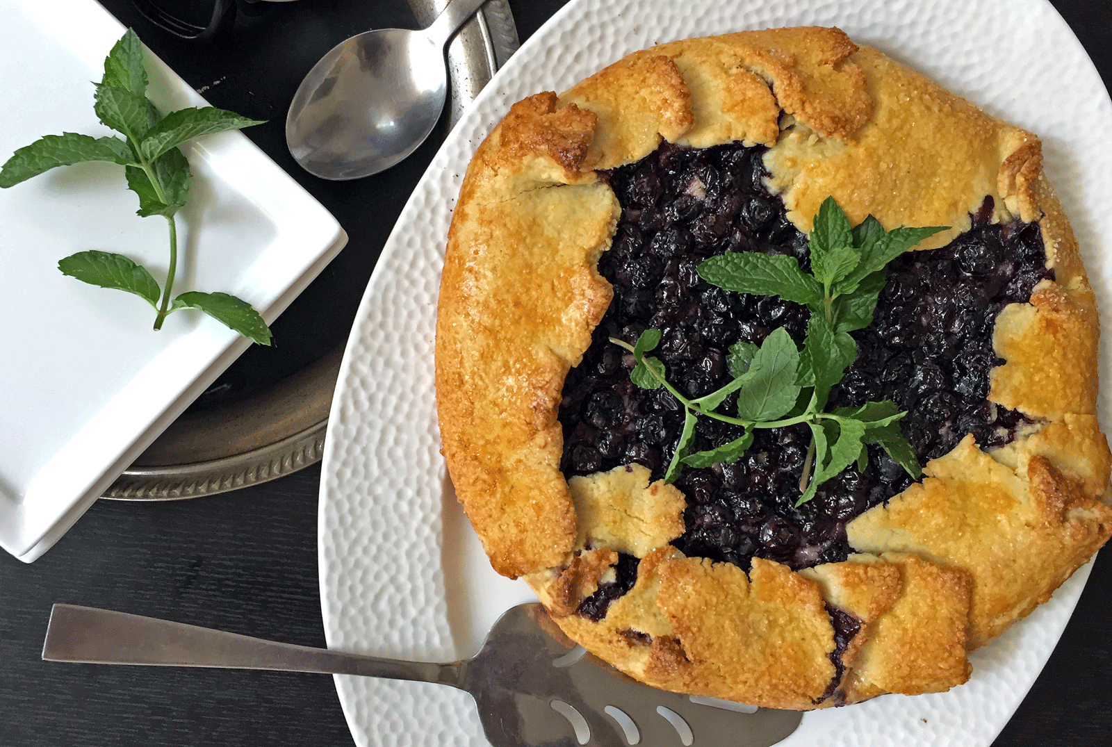 Baked Blueberries Galette