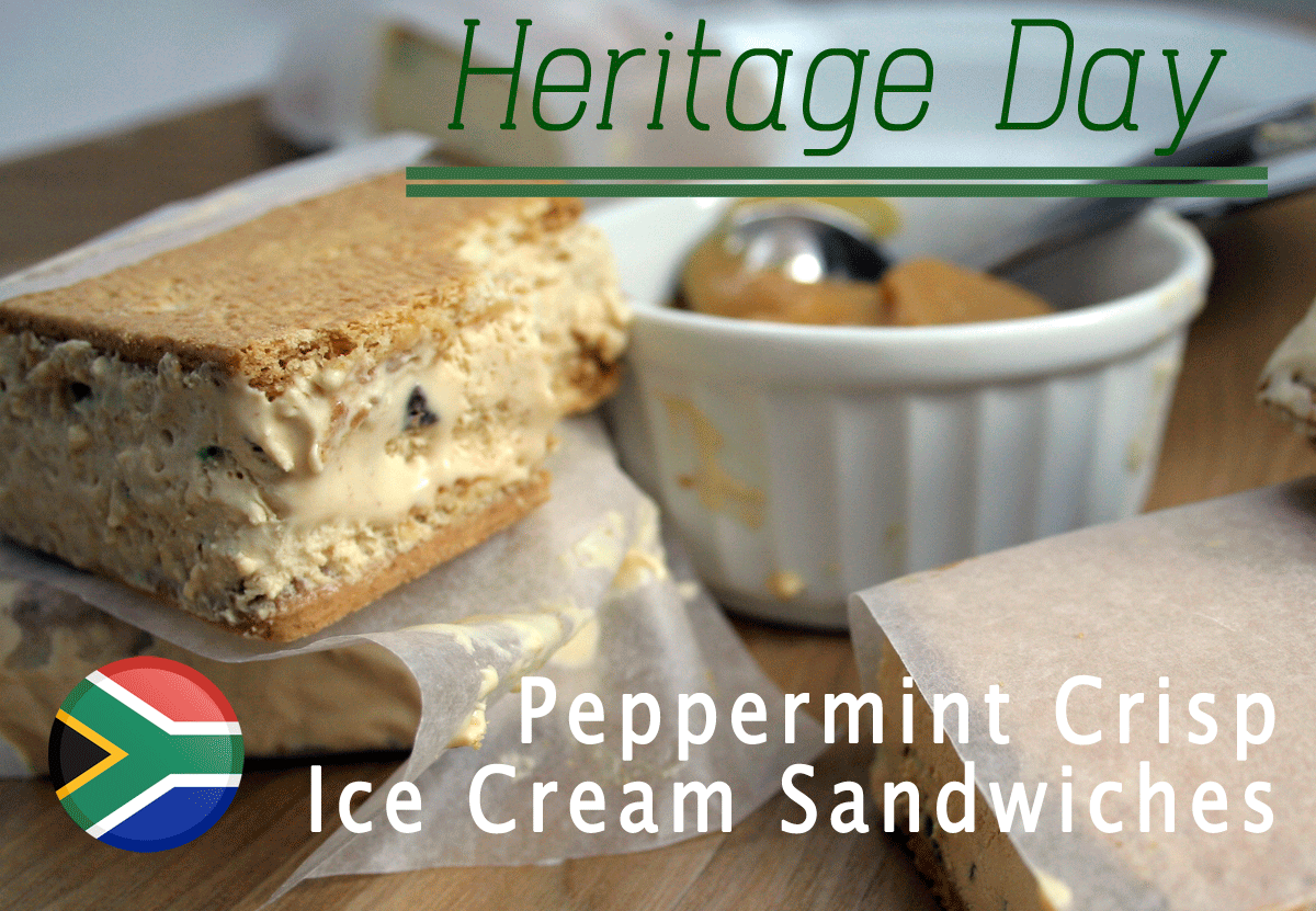 Peppermint Crisp Ice Cream Sandwiches